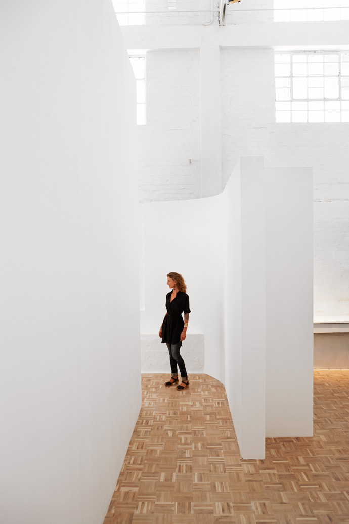 The almost theatrical back entrance tothe gallery with its beautiful parquetfloors.
