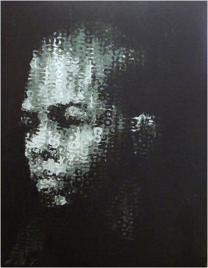 Binary Visage Code IV by Claude Chandler