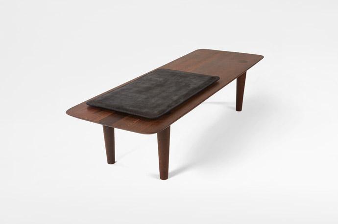 Kalahari Leather Padded Bench with Claesson Koivisto Rune