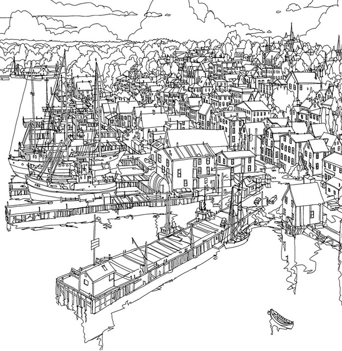 Fantastic Cities: An Amazing Architectural Colouring Book