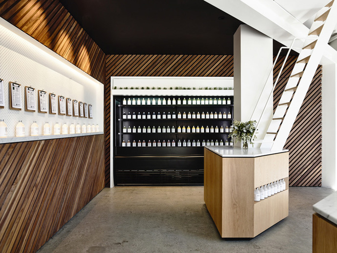Greene Street Juice Co., Australia (Design: Travis Walton Architecture)