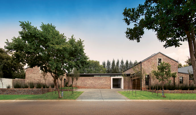 This area east of Pretoria is known for sinkholes, so the house was built on araft foundation, poured on top of the Modulo system from Geoplast. This system elevates the foundation off the ground, so it prevents rising damp, makes for good insulation and prevents the accumulation of radioactive radon gas.