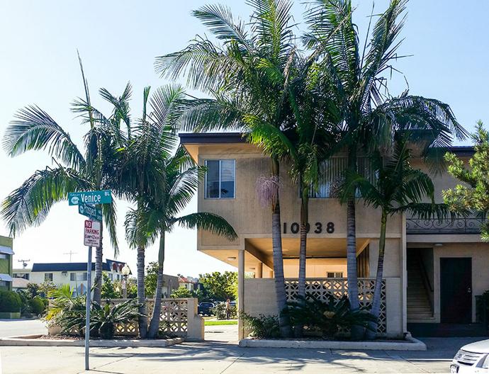 Buildings on Venice Boulevard.
