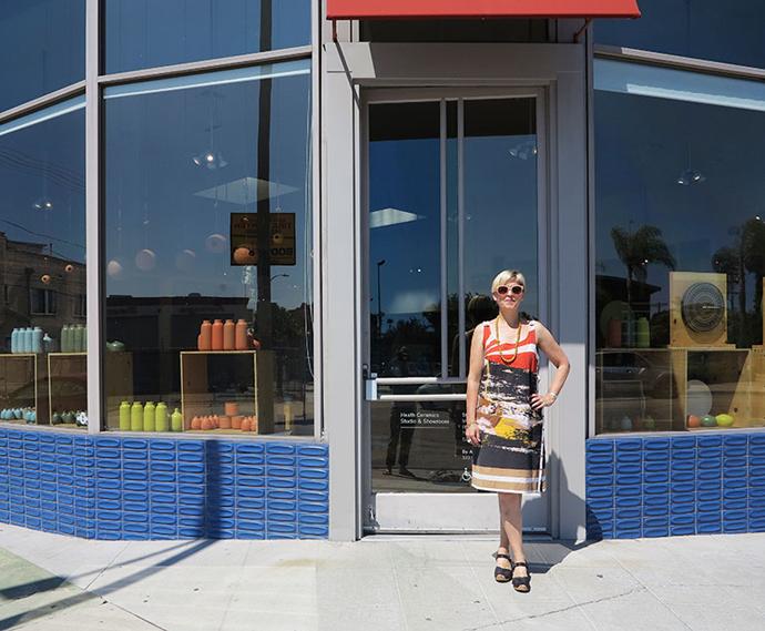 Heather Moore outside Heath Ceramics' LA showroom.