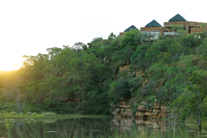 Even from its vantage point on a hilltop, this bushveld lodge has been sculpted to blend in with the terrain, and is the epitome of quiet, relaxed luxury