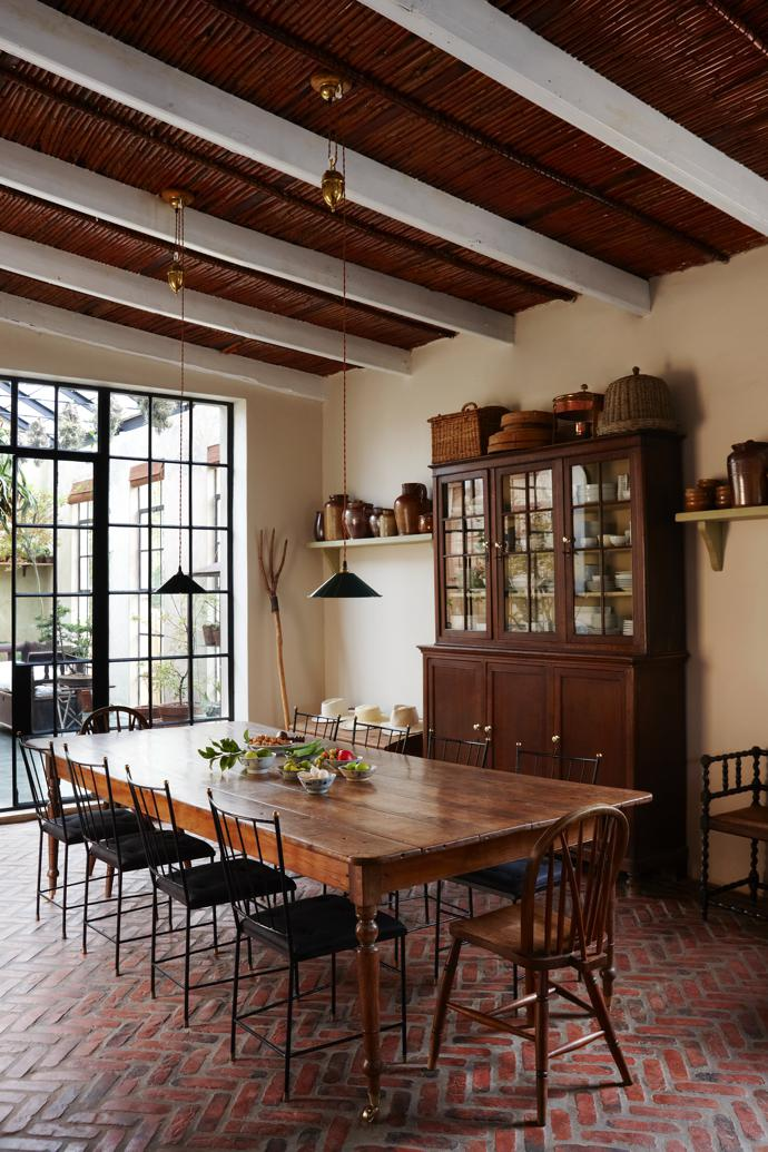 The kitchen is big enough for a 12-seater dining table.