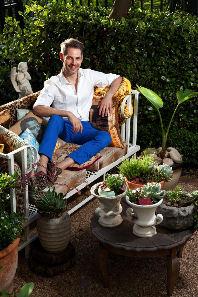 When he's not wielding his magic atWim Coiffeur in Sea Point, Wimenjoys spending time in his garden – as much as he enjoyed creating it.