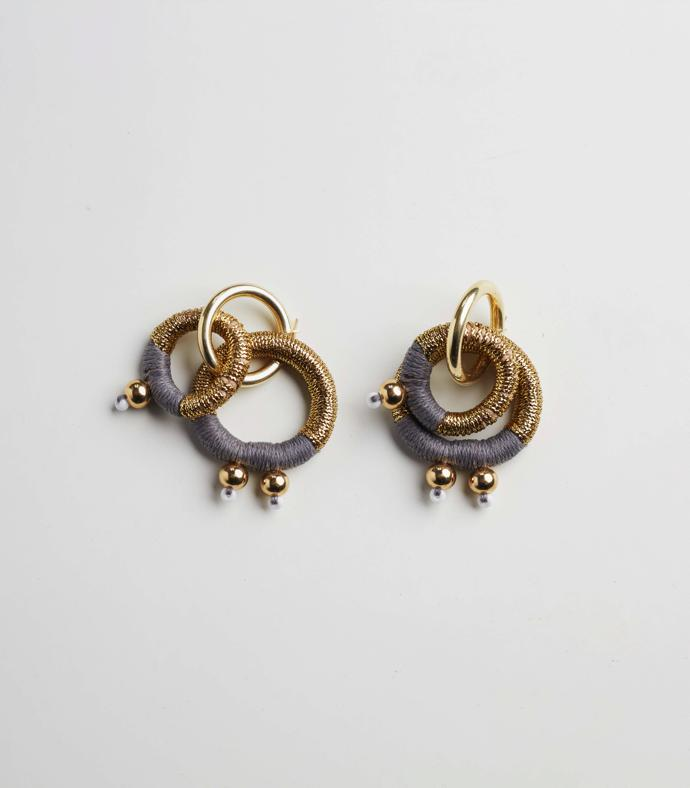 Gravity Gold Earrings R670