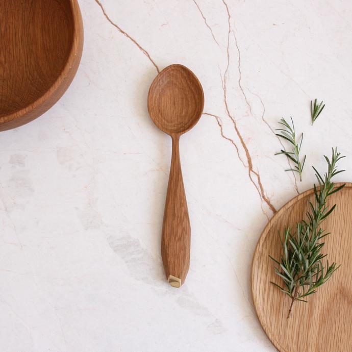 oak-brass-serving-spoon