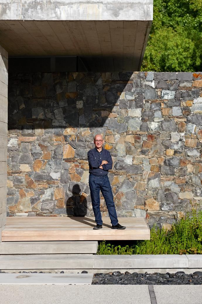 Architect Jon Jacobson of Metropolis says this is a house design driven by ideas rather than cultural or historical reference.