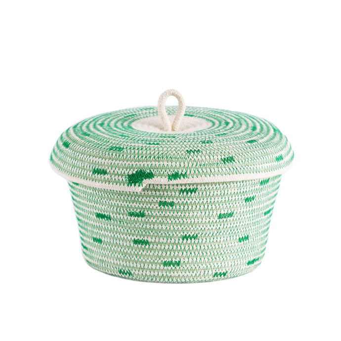 Lidded Basket (Stitched), R320.