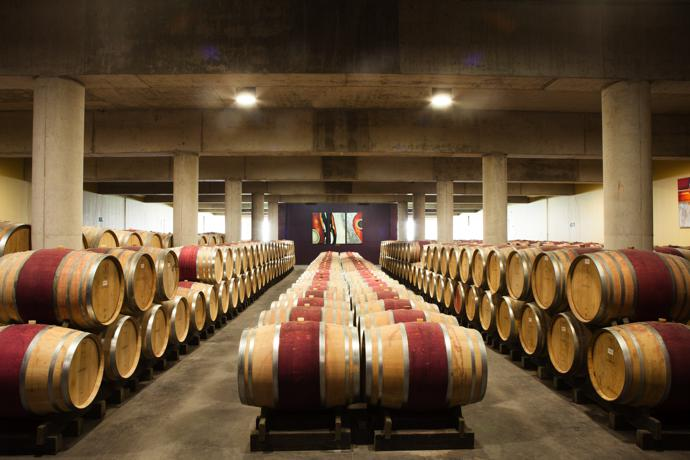 The Glenelly barrel cellar.