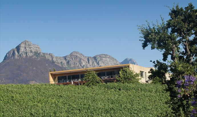 The Glenelly Winery building, which also houses The Vine Bistro, the tasting room and the Glass Collection.