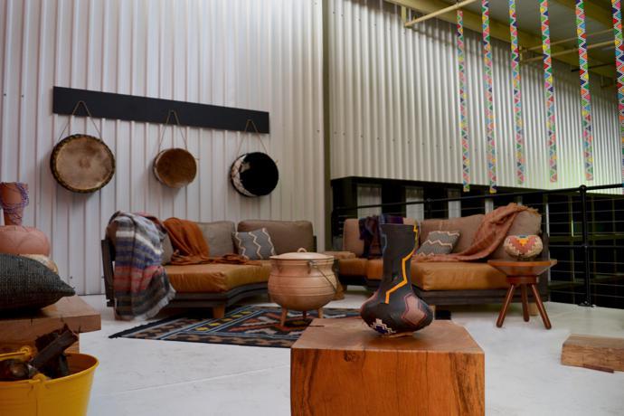 Nguni-inspired interior