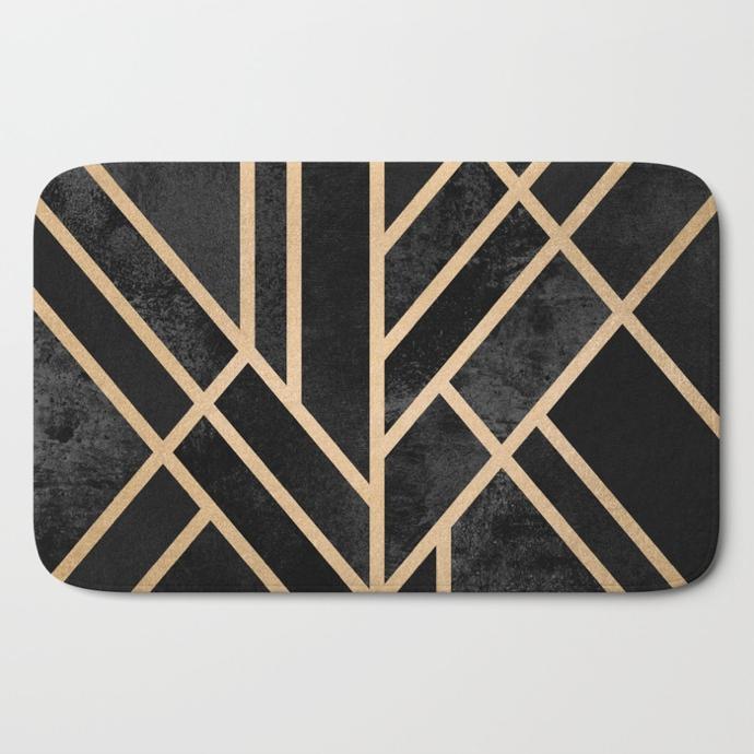 art-deco-black-bath-mats