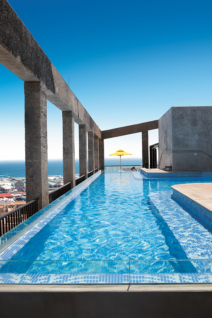 The glasswalled pool on The Silo's rooftop must offer some of the best views of any hotel swimming pool in the world.