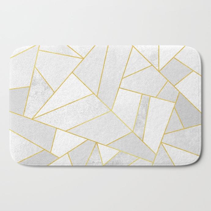 white-stone-bath-mats