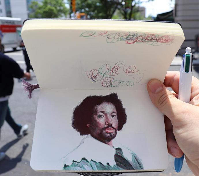 Ballpoint Pen Drawings By Nicholas V Sanchez