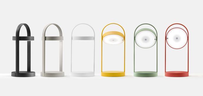 Giravolta rechargeable table lamps by Alberto Basaglia and Natalia Rota Nodari for Pedrali.