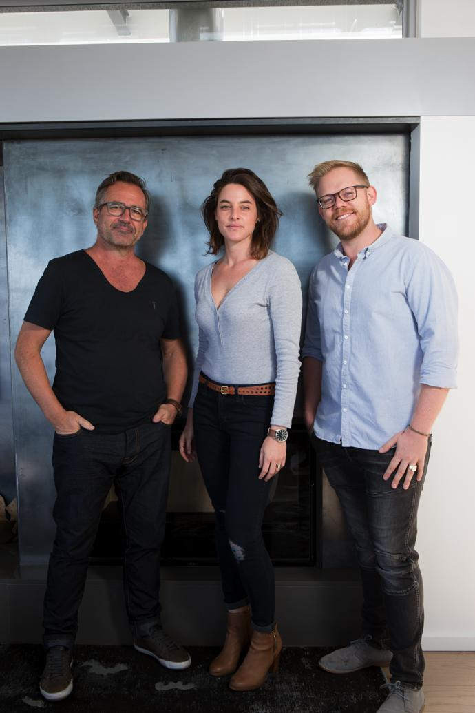 From left, Chris Weylandt, founder of Weylandts and head of its interior design division, Weylandts Spaces; Lior van Embden, Sales and Marketing manager at Blok; and Jacques van Embden, Managing Director at Blok.