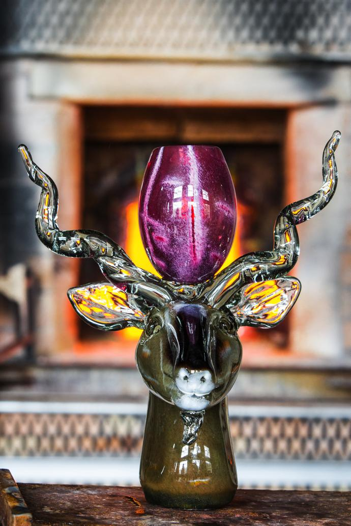 Davide's final work of art: a kudu (an animal he's never seen in the flesh), designed by local glass-blower Bhekithemba Tshapile.
