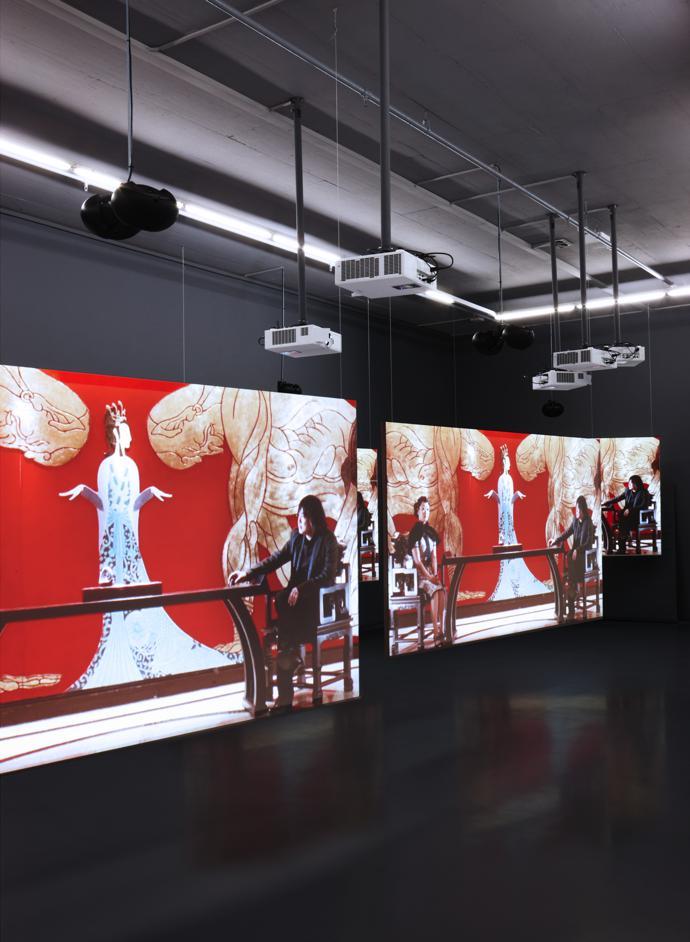 Works by British film-maker and installation artist Isaac Julien.