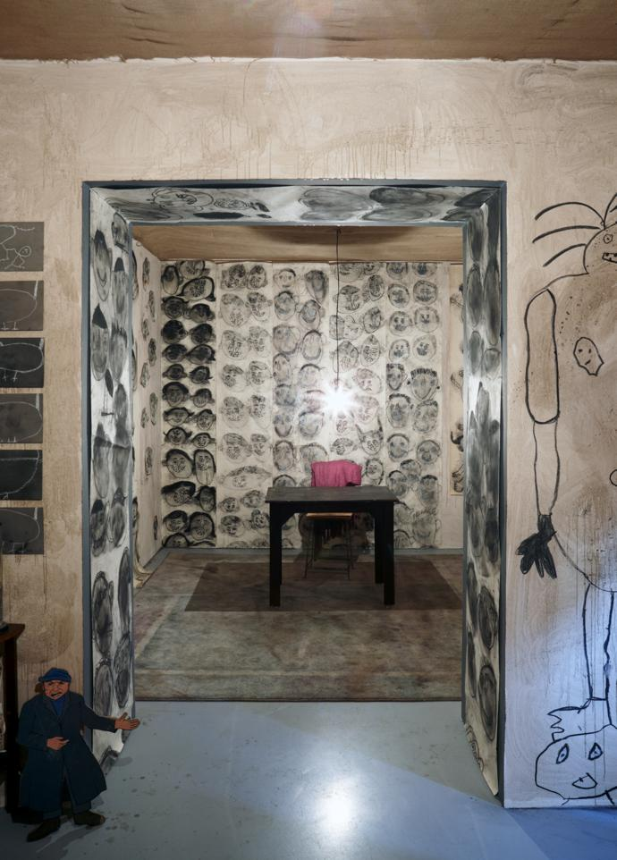 An example of the work of American-born, South Africa-based photographer Roger Ballen. The renowned artist, known for his black-and-white photographs, is also behind the Roger Ballen Foundation Centre for Photography at Zeitz MOCAA, which will support the museum's photographic programming and educational costs.