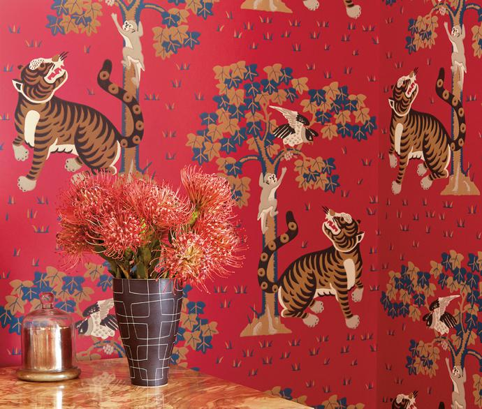Palampore Wallpaper And Fabric Collection By Anna French