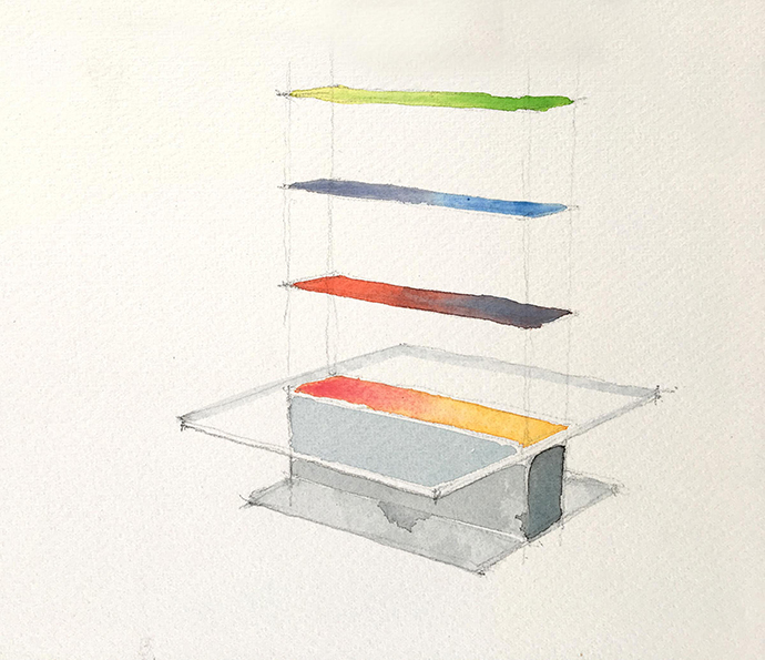 Studio August – Study for Colour Plane Table.