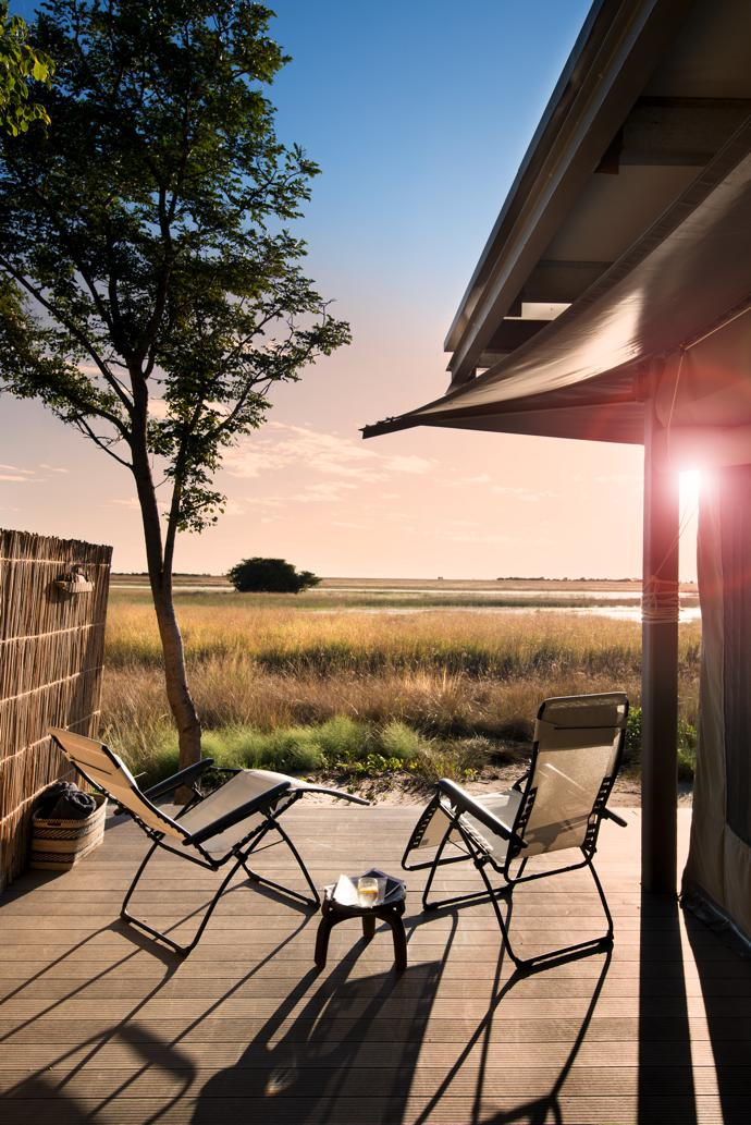 Imagine reclining in one of these loungers and watching the sun set over the floodplain…
