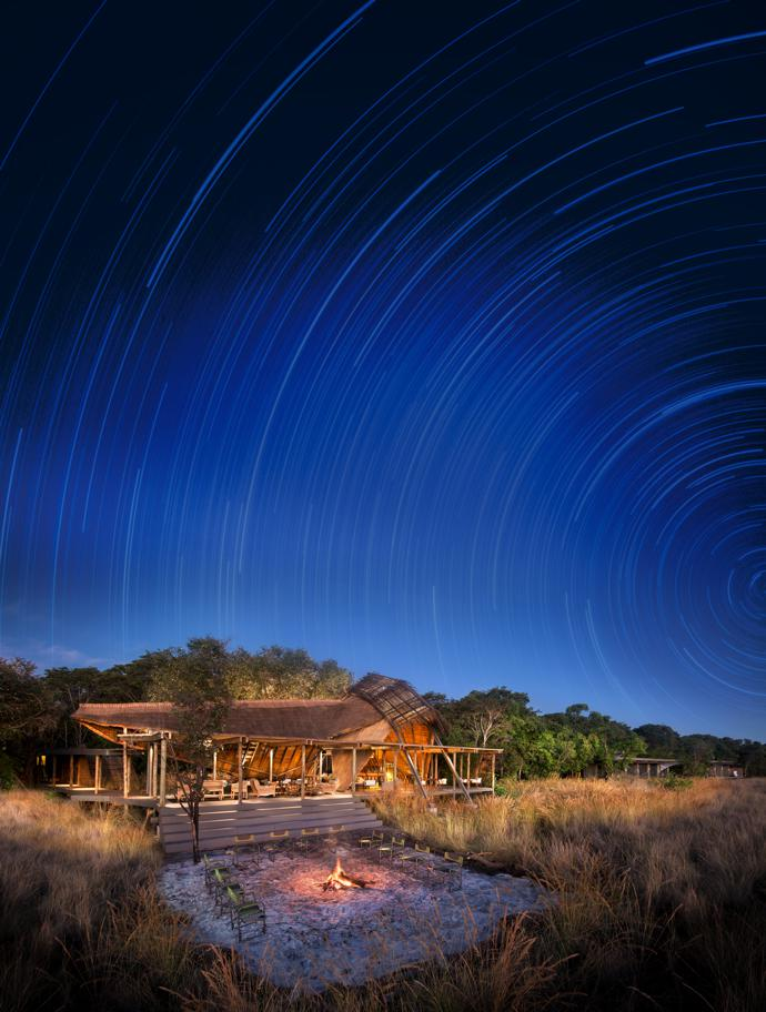 King Lewanika Lodge is the only permanent safari camp in Liuwa Plain National Park. All the structures were designed to have minimal impact on the land.