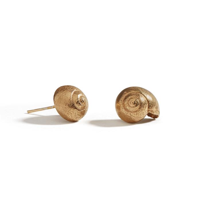 Gilt Periwinkle Studs