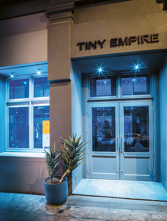 Some of Tiny Empire's unique offerings are its street access and its retail neighbours, Mother City Hardware and Deluxe Coffeeworks. You access all three entrances in the vestibule.