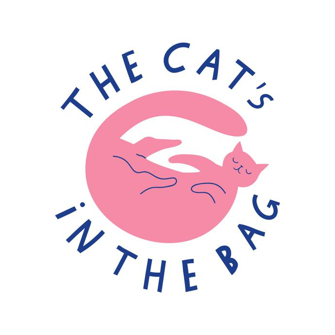 The Cat's In The Bag tote bag design