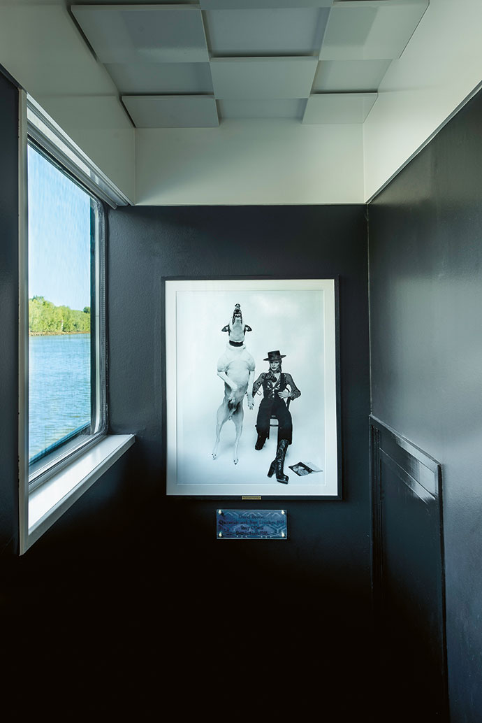 Original art is displayed everywhere on the river cruise ships. David Bowie Diamonds Dogs is a 1974 work by British photographer Terry O'Neill.