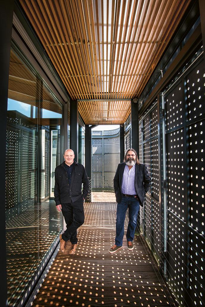 Braam de Villiers and André Eksteen, founders and directors of Earthworld Architects.