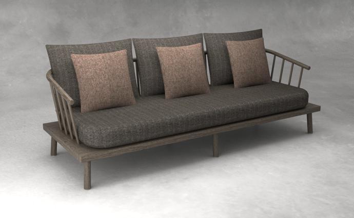 5. Neo Spoke Sofa - 3 Seater