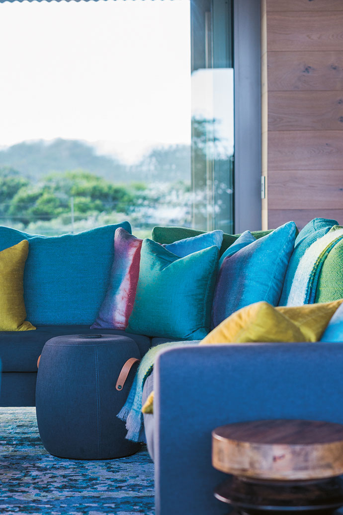 The bright, summery fabrics by Jim Thompson are imported by T&Co Fabrics.