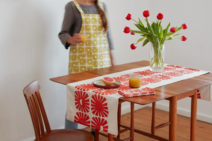 3 Skinny laMinx Sunshine Table Runner Persimmon