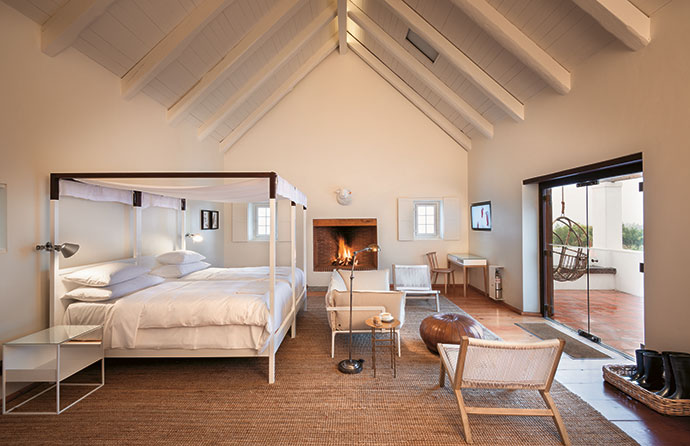 There can be no more extreme luxury than a bed that strips clutter from your head and comfortably suspends you for eight hours in fine linen. On a chilly night, light a fire, retreat, and listen to the farm's natural soundtrack.
