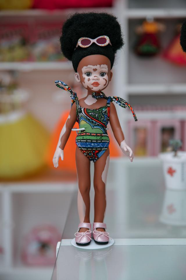 One of the dolls manufactured by Sibahle Collection.