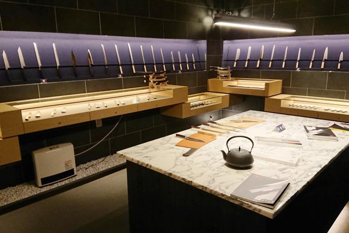 JIKKO Cutlery showroom in Sakai, Osaka Prefecture