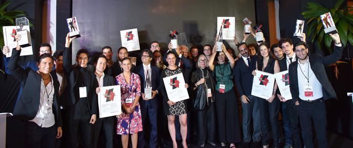LafargeHolcim Awards 2017 for Latin America prize handover ceremony, San José Prize-winning teams of the LafargeHolcim Awards Latin America 2017.