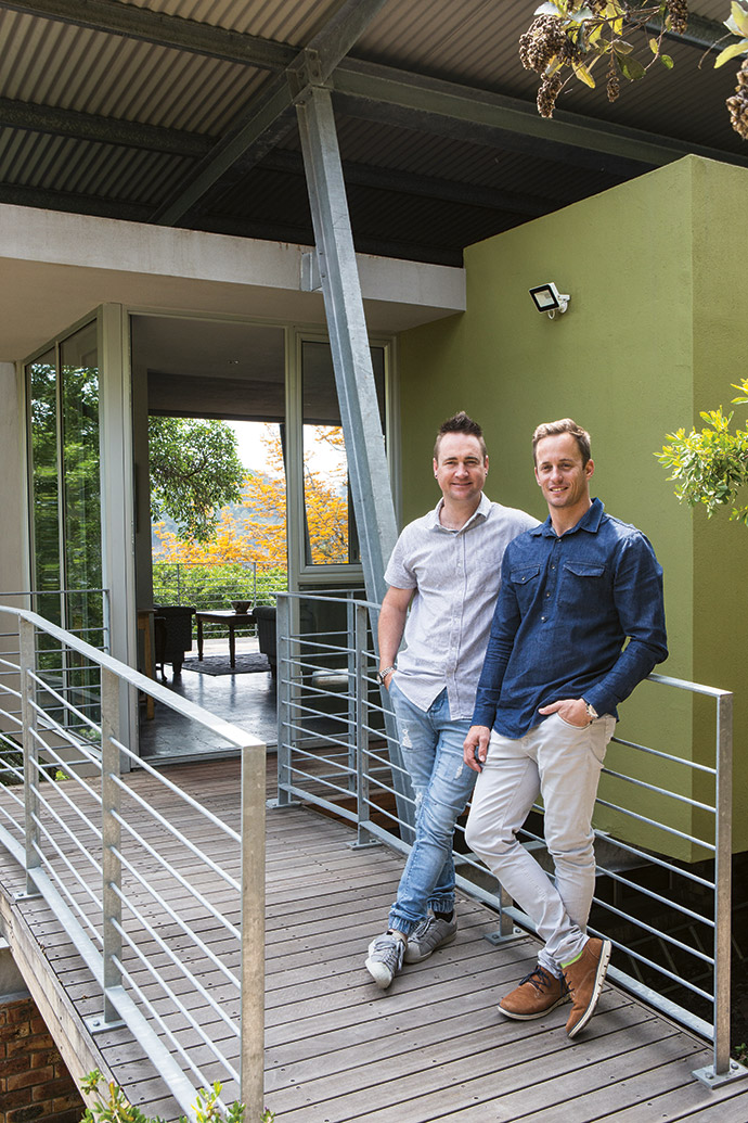 Neal Fisher, left, and Dal Venables of DMV Architecture have won two regional awards of merit and one national award of commendation for the innovative design of the Whitfields' house.