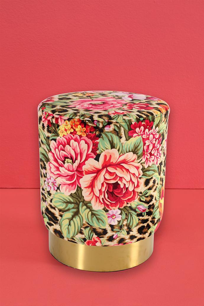 Floral ottoman, R999.99