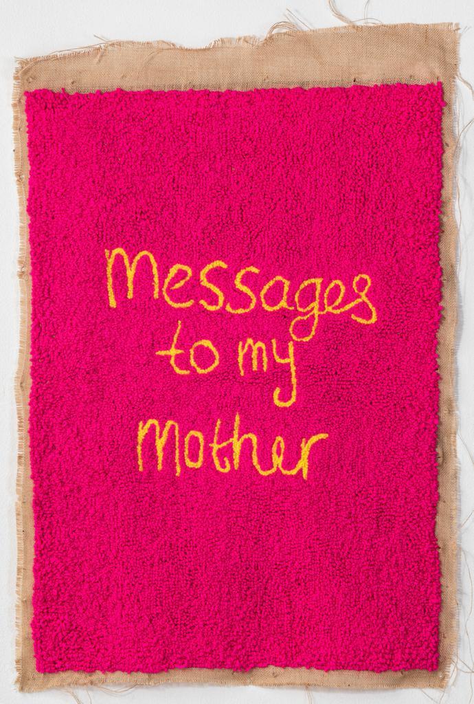 Talia Ramkilawan, Untiled VIII, 2019 Wool, cloth and Hessian, 91 x 68 cm