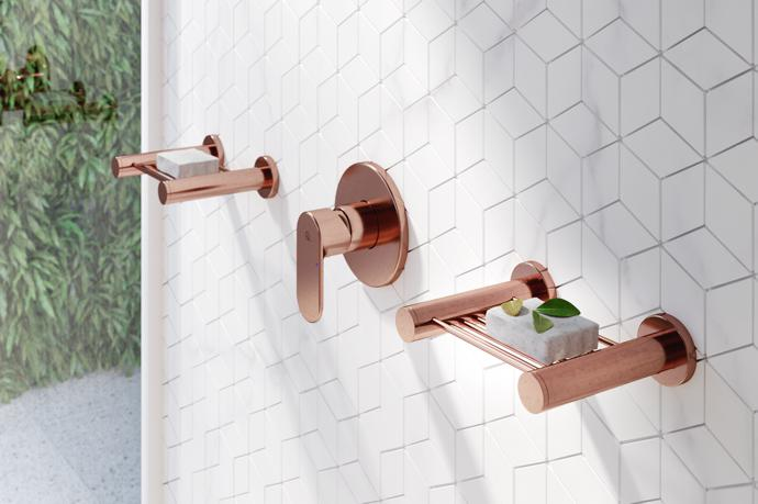 Bathroom Look Rose Gold Finishes Visi