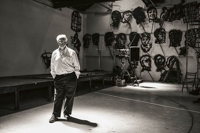 William Kentridge is widely acclaimed for his drawings, prints, animated films and stage productions. Image courtesy of William Kentridge Studio.