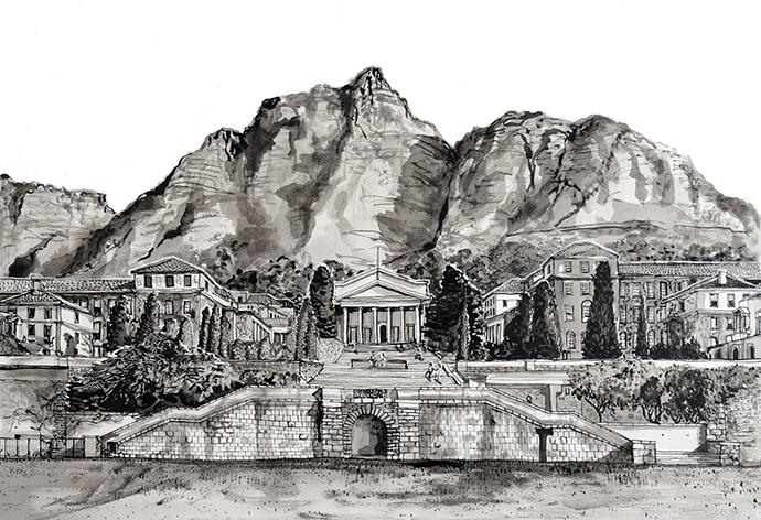 UCT, Indian Ink on Saunders Waterford Paper, 46.5 x 34.5cm
