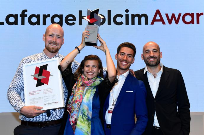 Winners of the LafargeHolcim Awards Bronze 2017 for Middle East Africa, presented in Nairobi, Kenya.